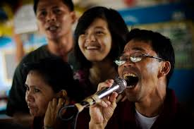Karaoke because...Filipino!